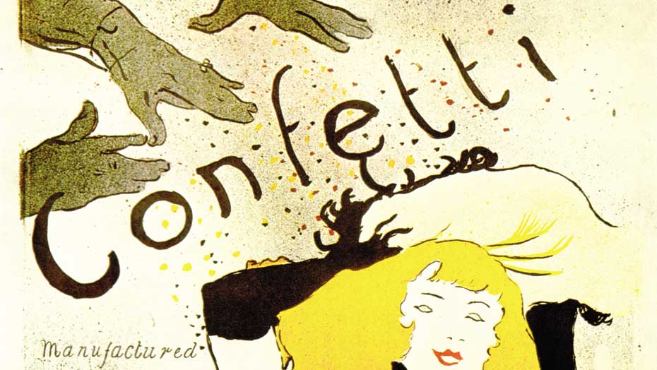 Confetti poster from Toulouse-Lautrec, an example of how a trade mark became works of art