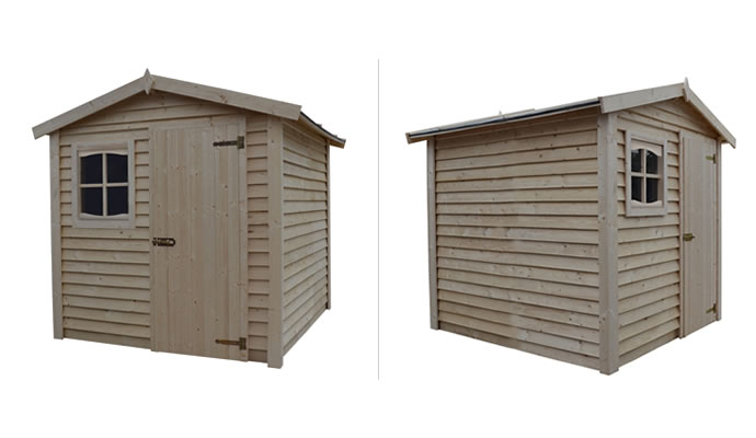 A garden shed, an example of design application