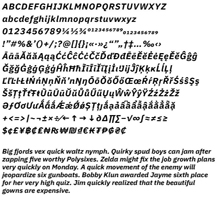 Search for an example of typefaces