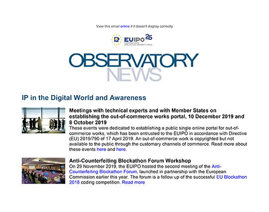 Cover of Observatory newsletter, December 2019 edition
